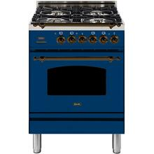 24 Inch Blue Dual Fuel Natural Gas Freestanding Range