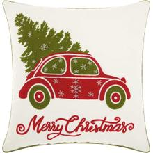 "Home for the Holiday St001 White 18"" X 18"" Throw Pillow"