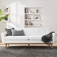 See Details - Engage Upholstered Fabric Sofa in White
