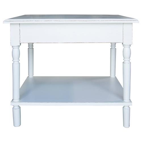 Lamp Table, Available in Shabby White Finish Only.