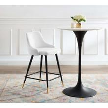 Adorn Performance Velvet Counter Stool in White