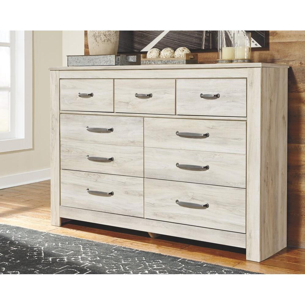 King Crossbuck Panel Bed With Dresser