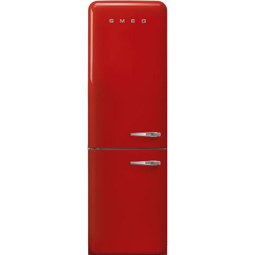 """'50s Style No Frost' Fridge-Freezer, Red, Left Hand Hinge, 60 cm (Approx 24"""")"""