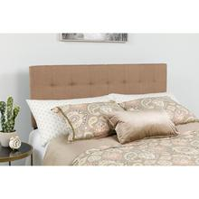 See Details - Bedford Tufted Upholstered King Size Headboard in Camel Fabric