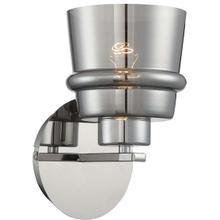 Wall Lamp, Chrome/smoke Mirrored Glass Shade, E27 Type G 60w