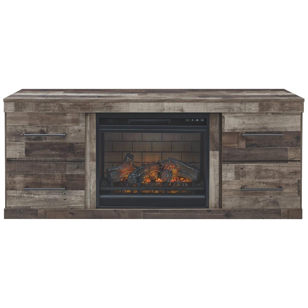 """Derekson 60"""" TV Stand With Electric Fireplace"""