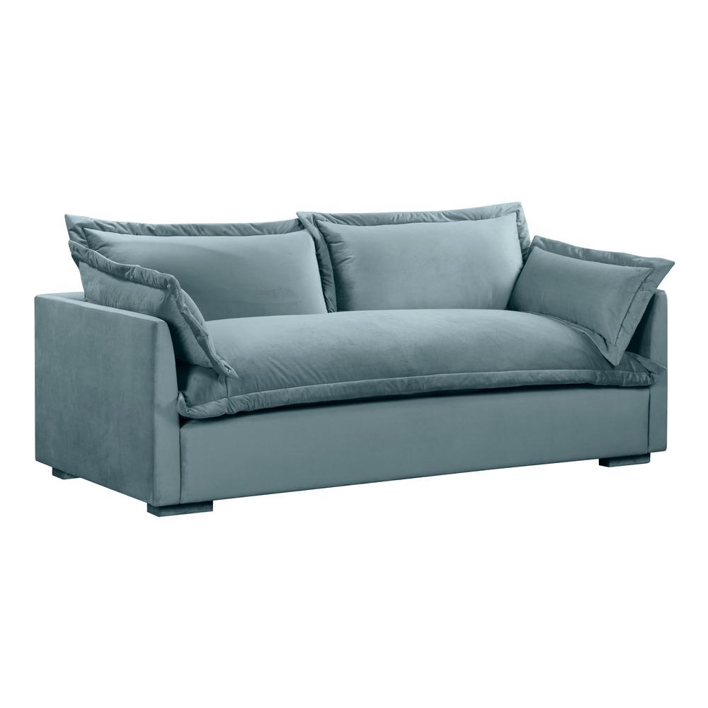 See Details - Freya Bluestone Velvet Sofa