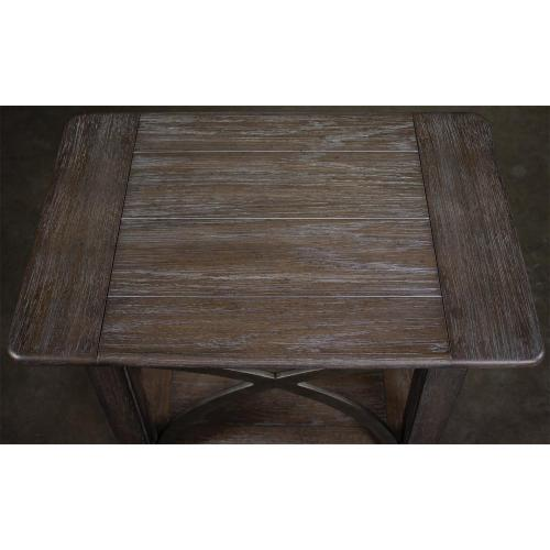 Helmsley - Chairside Table - Brushed Auburn Finish
