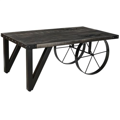 Zahir Coffee Table in Distressed Grey