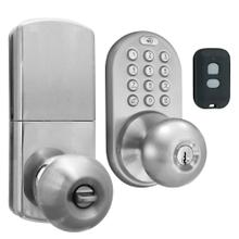 3-in-1 Remote Control & Touchpad Doorknob (Satin Nickel)