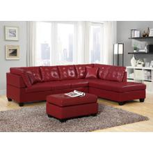 RED SECTIONAL CHAISE