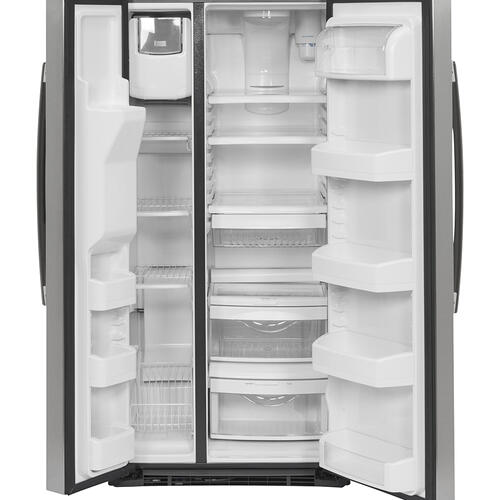 GE 23.2 Cu. Ft. Side-By-Side Refrigerator Stainless Steel - GSS23GSKSS
