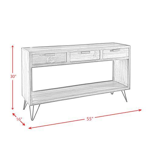 Elements - Cruz Rectangular Sofa Table