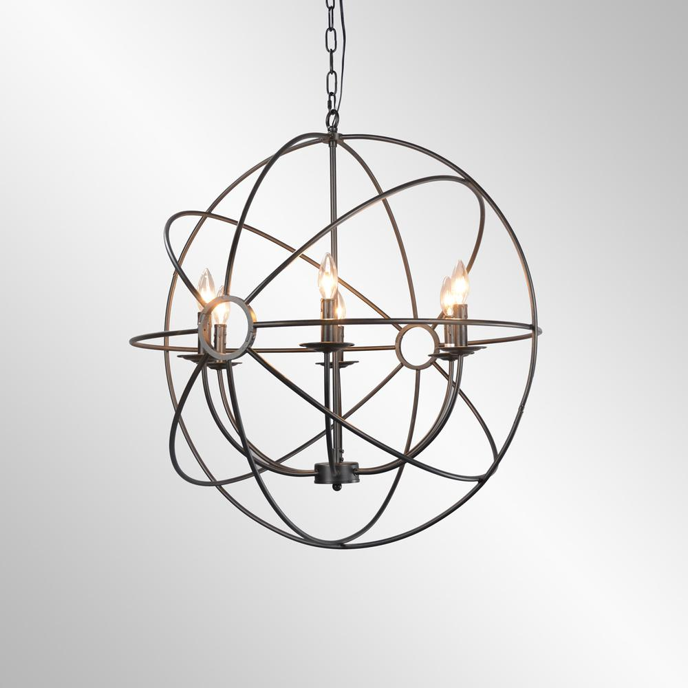 See Details - Derince Iron Chandelier Small w/Bulb