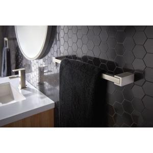 """Kyvos brushed nickel 18"""" towel bar"""