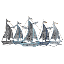 Layered Sail Boat Wall Decor