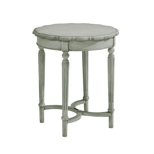 TABLE,TALL PIE CRUST DOVE GREY