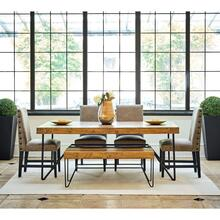 Cruz Dining Set - Table, Bench, and 4 Chairs