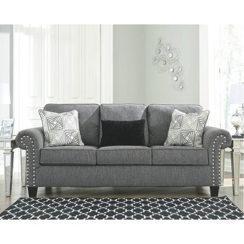 787013   Sofa, Loveseat and Chair- Agleno Charcoal