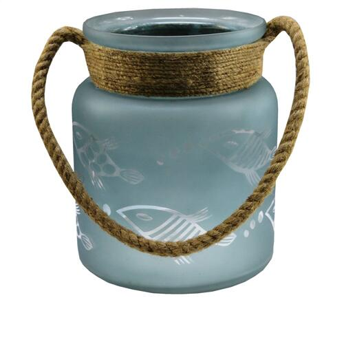 Crestview Collections - Medium Fisher Hurricane with Rope Handle