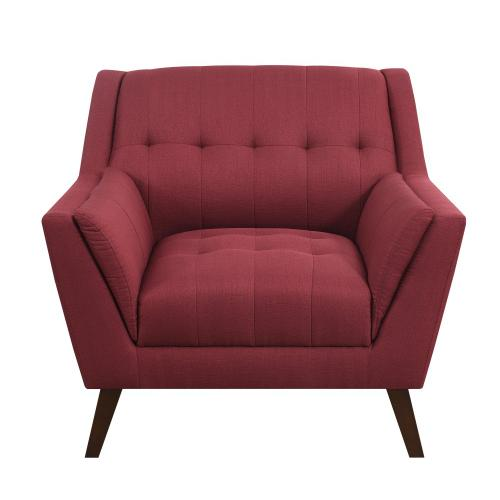 Emerald Home Furnishings - Modern Chair in Red Fabric