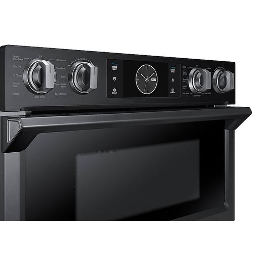 "30"" Flex Duo™ Microwave Combination Wall Oven in Black Stainless Steel"