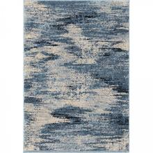 Spartan Contemporary 5x8 Area Rug in Cream/Blue