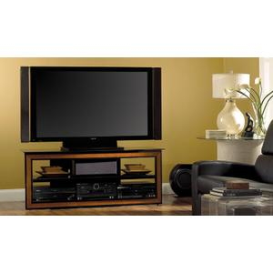 Versatile Cherry Wood Trim Audio/Video System