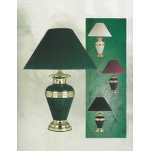 HUNTER GREEN METAL TABLE LAMP