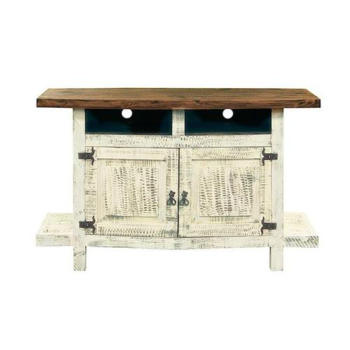 L.M.T. Rustic and Western Imports - White TV Stand
