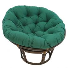 Bali 42-inch Indoor Fabric Rattan Papasan Chair - Walnut/Forest Green