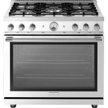 "Range LA CUCINA 36"" Classic Pearl Finishing White 5 gas, gas oven"