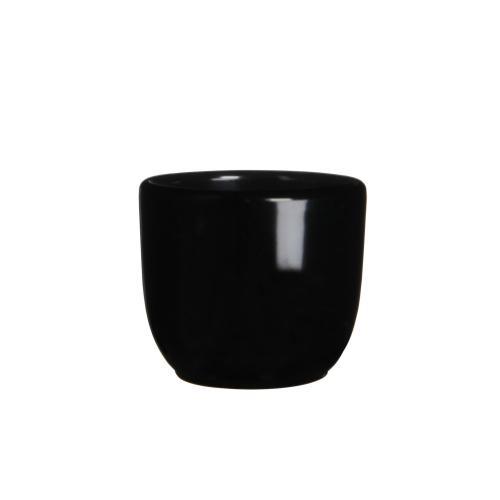 Tusca Round Planter Gloss Black (min.25pcs)