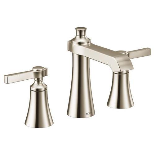 Flara polished nickel two-handle bathroom faucet