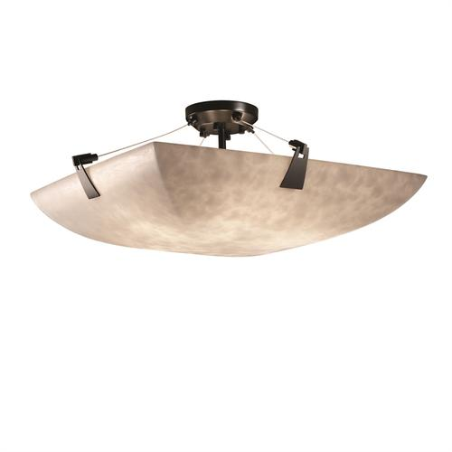 "18"" Semi-Flush Bowl w/ Tapered Clips"