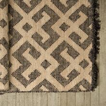 Gunnar I 96 x 60 Tan/Brown Wool and Cotton Fringe Rug