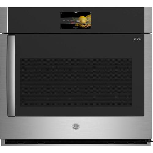 """GE Profile 30"""" Built-In Convection Single Wall Oven with Right-Hand Swing Doors Stainless Steel - PTS700RSNSS"""