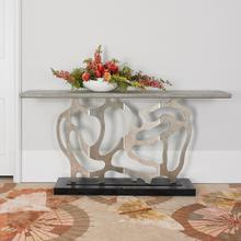 See Details - Sculpted Console - Silver