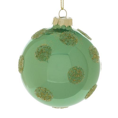 """3"""" Green Dots Ornament"""