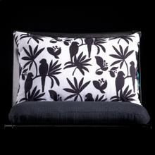 BIRD LUMBAR PILLOW  3in X 20in  Black & White Bird Pillow. Vibrant colors and bold pattern choices