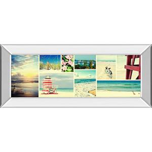 Coastal Collage Panel By Gail Peck (mirrored Frame)