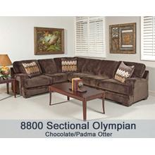 Olympian Chocola/Padma Otter  8800 R/F Sectional