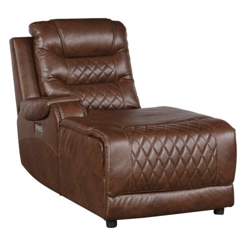 Power Left Side Reclining Chaise with USB Port