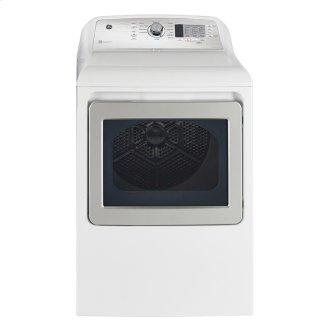 GE 7.4 cu.ft. Top Load Gas Dryer with SaniFresh Cycle White - GTD65GBMRWS
