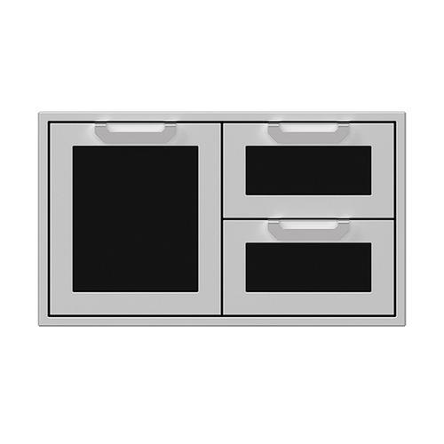 """36"""" Hestan Outdoor Combo Door/Drawer - AGSDR Series - Stealth"""