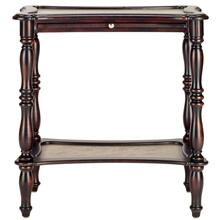 Spencer Pull Out Accent Table - Dark Brown