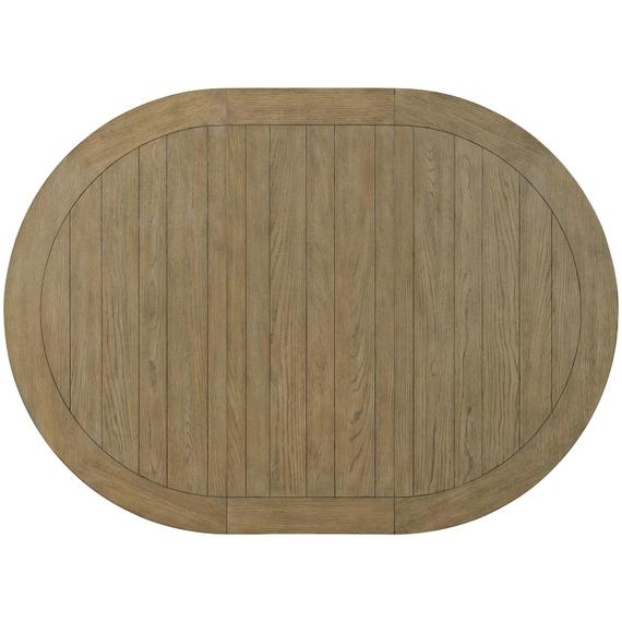 Riverside - Southport - Round Dining Table Top - Smokey White/antique Oak Finish