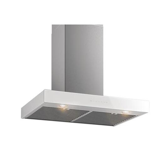 Ispira 36-in. 650 Max CFM Stainless Steel Chimney Range Hood with PURLED Light System, Without Glass. To complete your hood - select a glass panel in one of 8 designer colors.