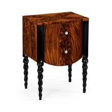 Chest of drawer with black twisted legs
