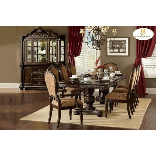 Homelegance - 9PC SET (Table with 6 Side Chairs and 2 Arm Chairs)